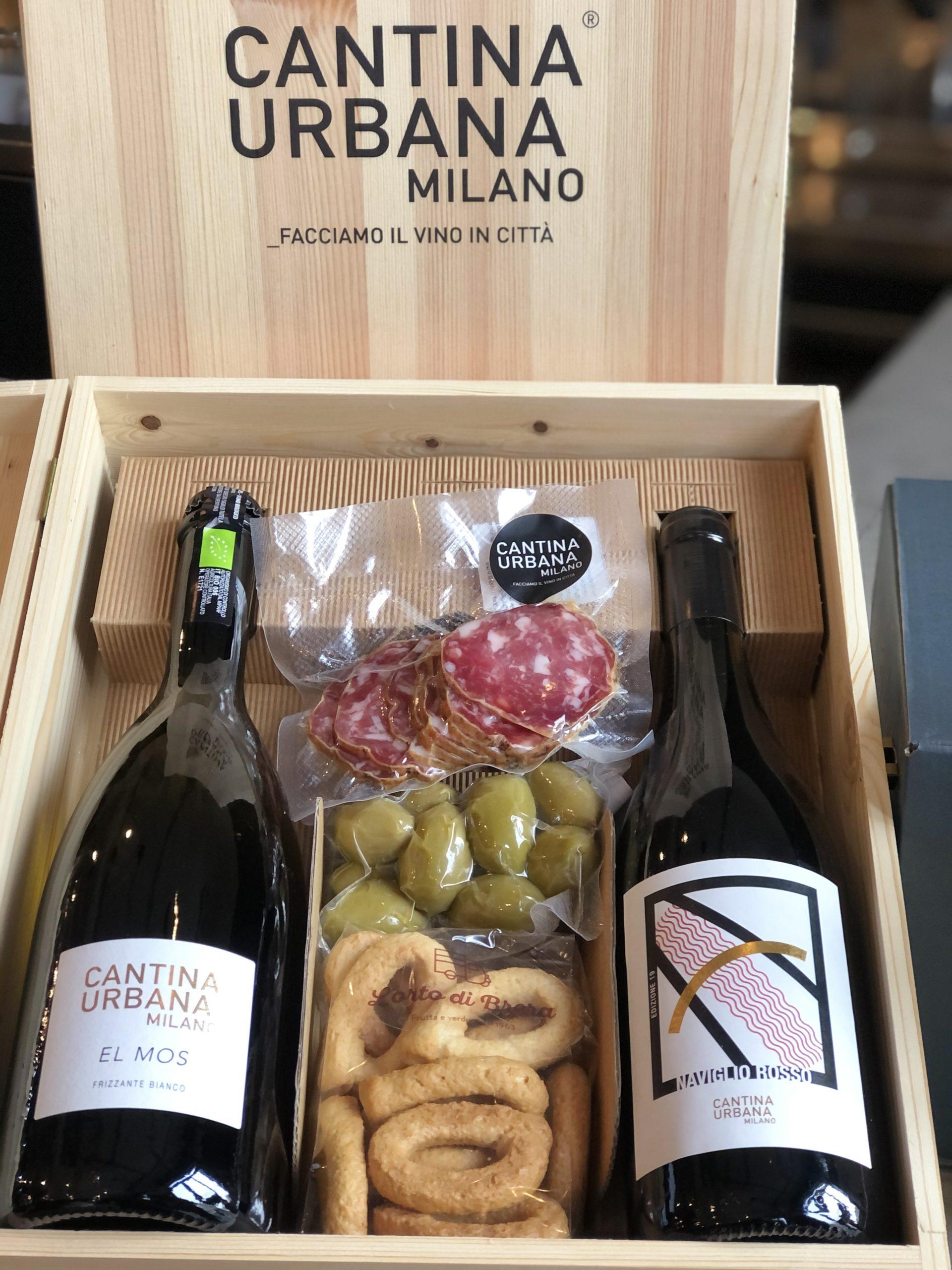 """Box """"Prestige"""" Aperitivo in Cassa di Legno"""